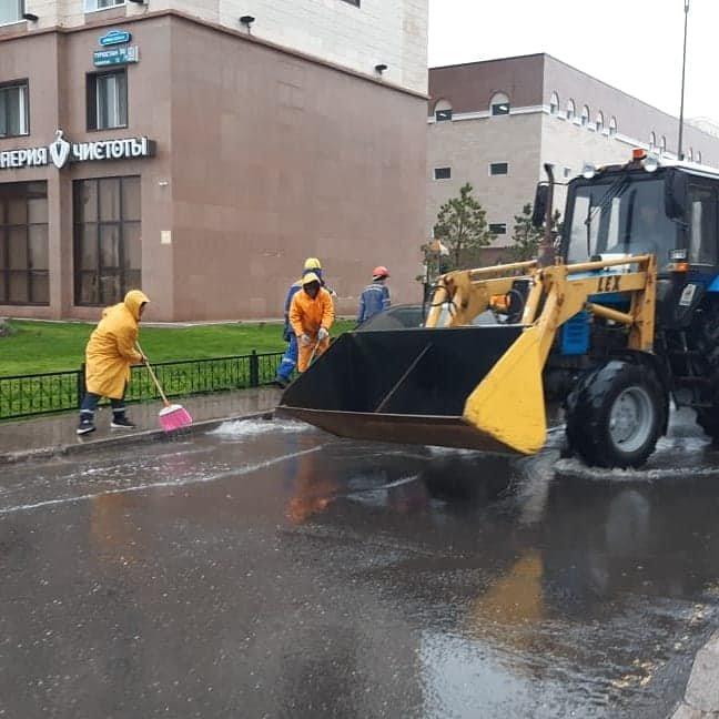 Как борются с подтоплением улиц показали в Нур-Султане (фото), фото-1