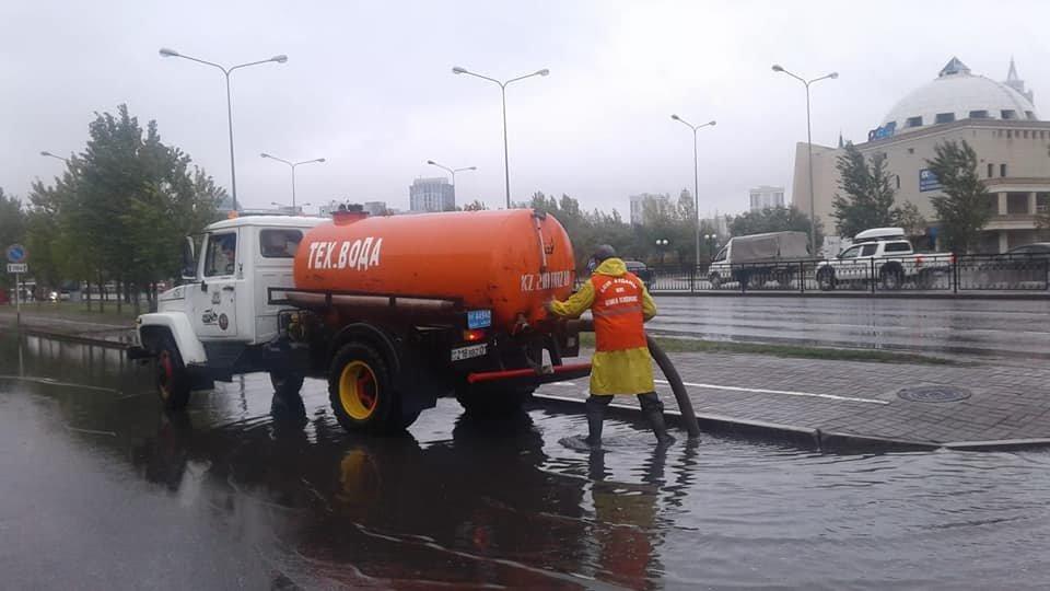 Как борются с подтоплением улиц показали в Нур-Султане (фото), фото-6