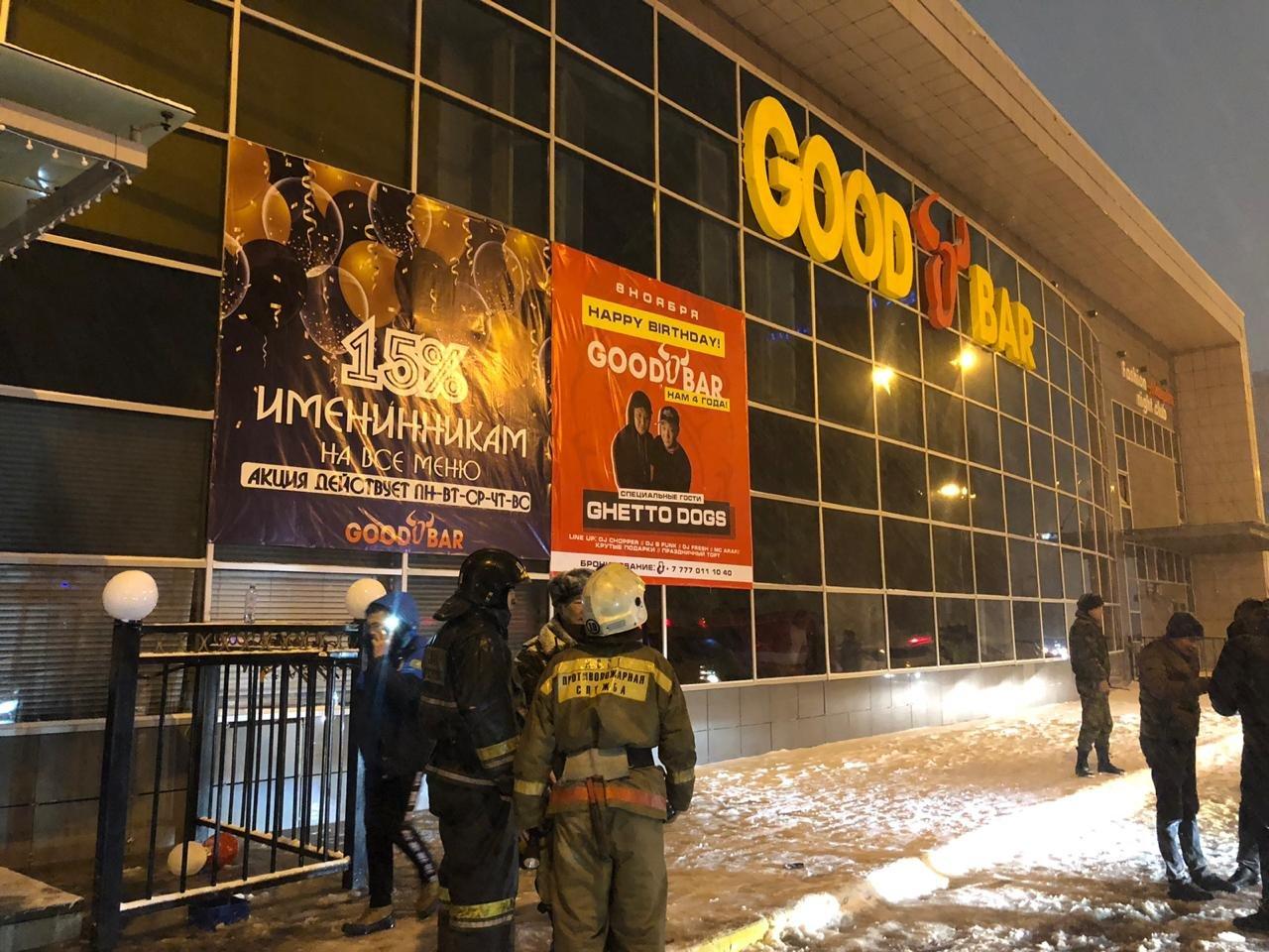 Пожарные спасли 8 человек при возгорании ночного клуба в Нур-Султане, фото-1, Фото пресс-службы КЧС МВД РК