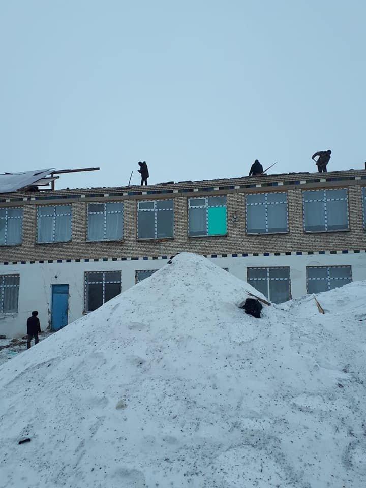 В Акмолинской области ураган сорвал крышу школы (фото), фото-5