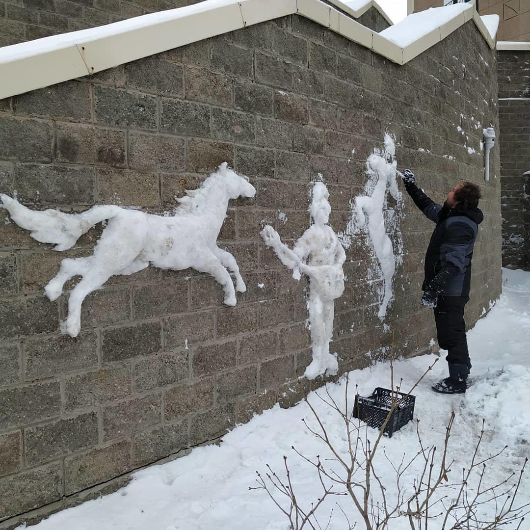 Художник делает барельефы из снега в Нур-Султане (фото), фото-2