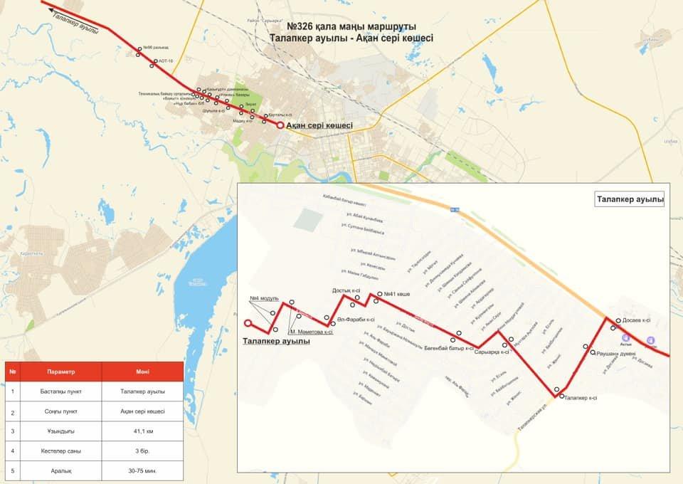 Автобусный маршрут в посёлок Талапкер запустят в Акмолинской области, фото-1
