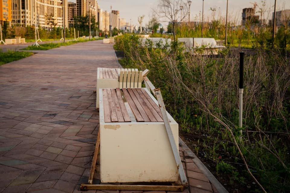 Аким Есильского района в Нур-Султане получил замечание за ненадлежащий вид Линейного парка, фото-1