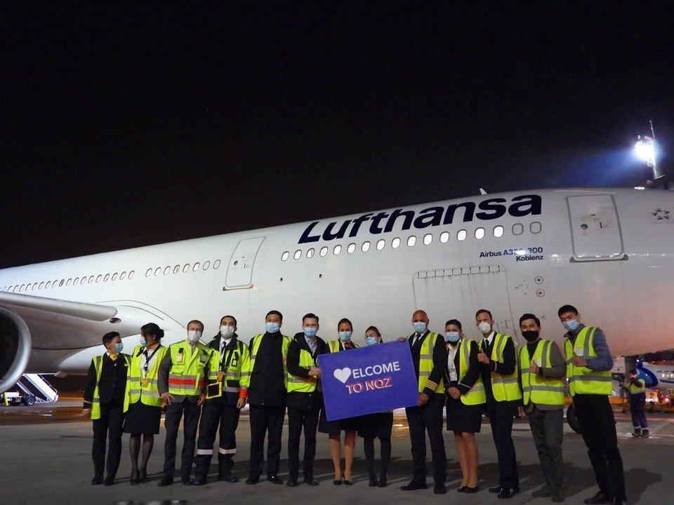 «Lufthansa» снова вернулась в Казахстан, Пресс-служба аэропорта Нур-Султана