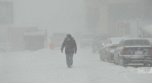 Метель и снег сохранятся в Астане в ближайшие дни